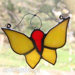 Żółciak cytryniak witraże pi art witraż, motyl,