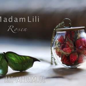 bukiet prawdziwe róże brązowy łańcuszek - róża