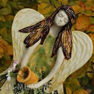 dla dziecka anioł w sukni z nawłoci, anioł, aniołek, anielica, prezent