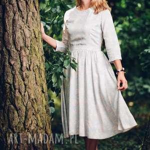 Pastelowa, letnia sukienka midi w kwiaty z wiskozy rozmiar s, m, l, sukienka,