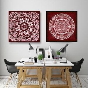 Zestaw 2 mandal 50x50cm, mandala, mandale, grafika, plakat, etno