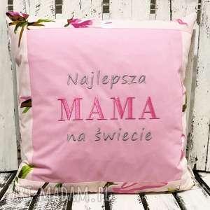 poduszki poduszka najlepsza mama na świecie 40x40cm od majunto, dzień mamy