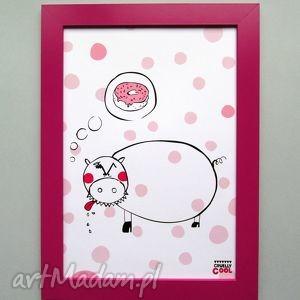 piggys dream, świnka, donut, pączek, kropki, słodycze, kuchnia