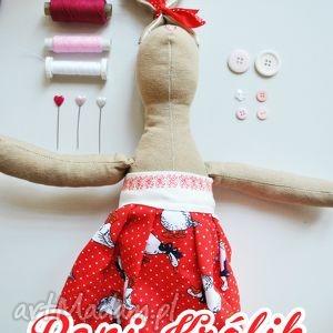 pani królik hela - królik, zabawka, szmaciana, prezent, dziewczynki, urodziny