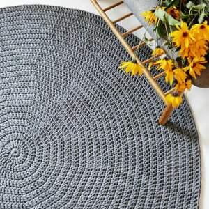 dom okrągły dywan ze sznurka 150