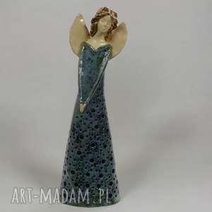 Anioł lampion, anioł, ceramika