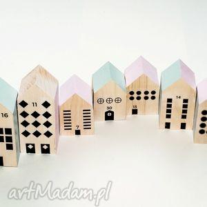 drewniane klocki miasteczko xxl - drewno, klocki, domek, miasteczko