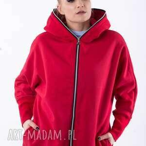 hand-made bluzy bluza nietoperz czerwona conscious