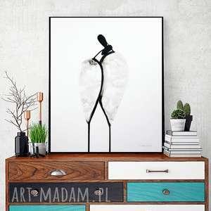 grafika 40x50 cm wykonana ręcznie, plakat, abstrakcja, elegancki minimalizm
