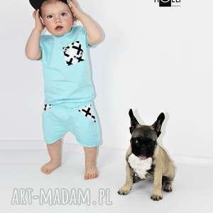 handmade ubranka spodenki i bluzeczka dla chłopca