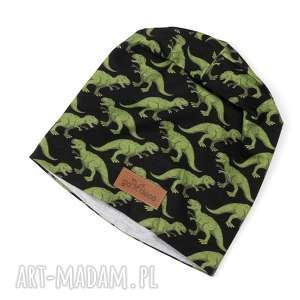 czapka dinozaury ciepła beanie unisex - czapka, dinozaur, ciepła, unisex, prezent
