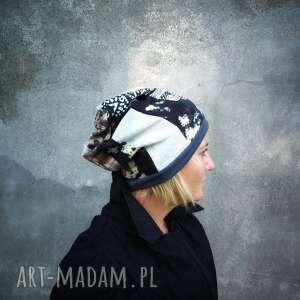 czapka patchworkowa na podszewce damska wiosenna - jesienna - box b1- rozmiar