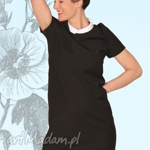 sukienka BLACKY , elegancka, prosta, poszerzana, szykowna, mini