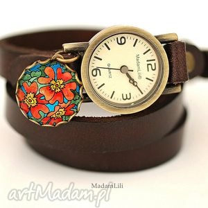 Zegarek Hippie Summer skóra, hippie, lato, zegarek