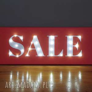 Napis led sale wyprzedaż neon do sklepu butiku znak dekoracja