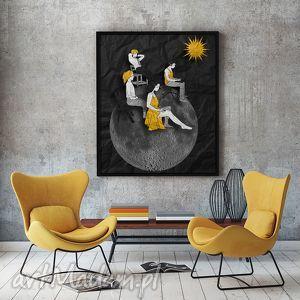 Energia... - art print 30x40 cm., grafika, plakat, a3, fotomontaż, ilustracja, ludzie