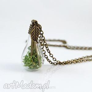 bambusowy las - naszyjnik - naszyjnik, natruralny, mech, medalion, romantyczny, prezent