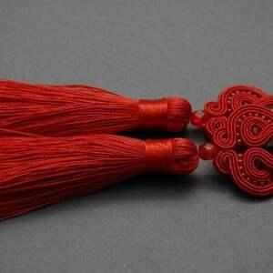 handmade klipsy czerwone klipsy sutasz