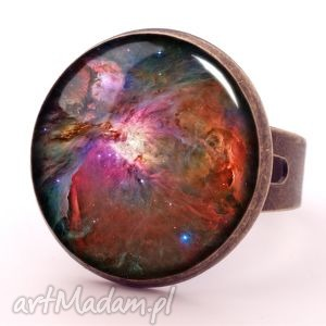 orion nebula - pierścionek regulowany - kolorowe pierścionki