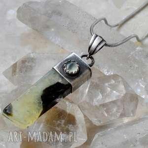 święta, kryształ z prehnitem, prehnit, srebro, retro, kryształ, królewski