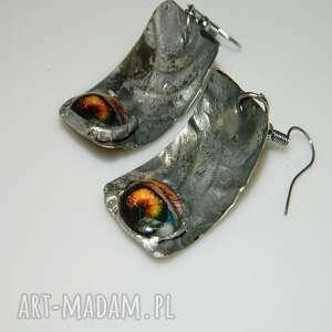 kolczyki z alpaki-k31, kolczyki, metaloplastyka, unikalne oko, alpaka
