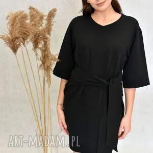 święta, sukienka bogini czarna, wiązana, midi, kobieca
