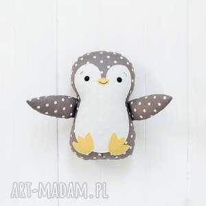duży pingwin, pingwinek, zabawka, przytulanka, prezent, ptaszek