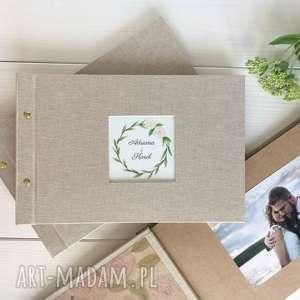 personalizowany album ślubny ręcznie malowany, prezen ślubny, ślub