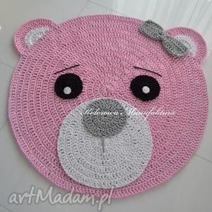 pokoik dziecka dywan misia różowa 100cm, dywan, miś, bawełniany, chodnik dla dziecka