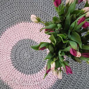 ręcznie wykonane dywany dywan na szydelku 120 cm kolo