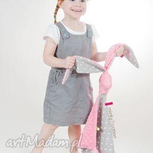 ręcznie zrobione zabawki wielki zając przytulas minky - serduszka