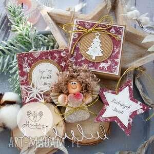 Na święta upominek! Aniołek bożonarodzeniowy zestaw świąteczny: