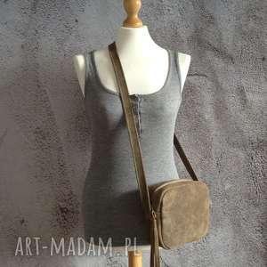 handmade na ramię skórzana torebka