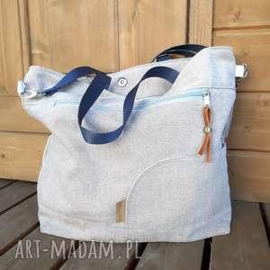 na ramię torba shopperka pudrowy róż #a, róż, shopperka, duża
