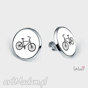 kolczyki sztyfty rower, hobby, kolarstwo, jazda, sport, pasja, prezent, prezent