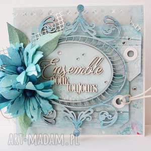 hand-made scrapbooking kartki z życzeniami - w pudełku
