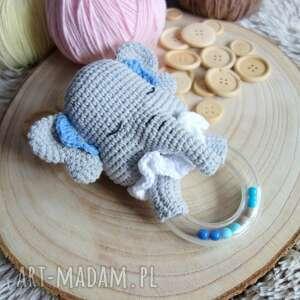 zabawki grzechotka słonik, grzechotka, maskotka, zabawka, prezent