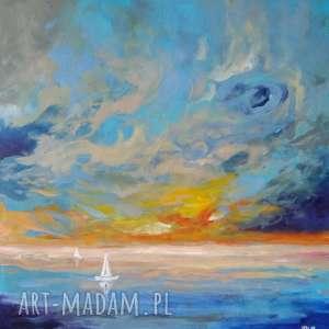 paulina lebida morze-obraz akrylowy formatu 40/40 cm, akryl, morze, płótno