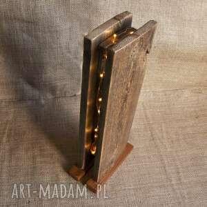 lampka - lampion drewniana /1/ loft, retro, lampa, lampion, drewniany, loft