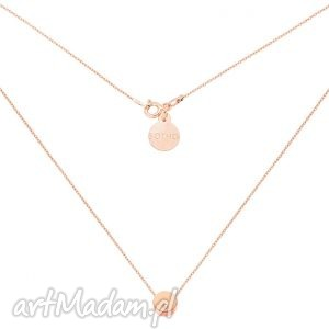 naszyjnik z różowego złota delikatną karmą kryształkiem swarovski crystal