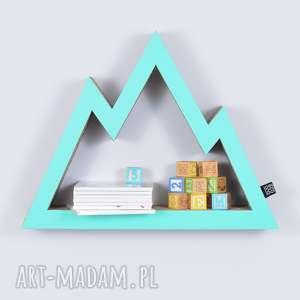 Półka na książki zabawki GÓRY ecoono | miętowy, półka, chłopiec, dziewczynka