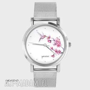 ręcznie robione zegarki zegarek, bransoletka - koliber, oznaczenia godzin