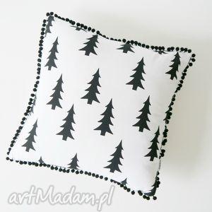 unikalny prezent, poduszki choinki, blackandwhite, minimalizm, scandi
