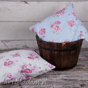 Poszewka na poduszkę Róże - 2 kolory, poduszka, poszewka, kwiaty, róże, chic, chabby
