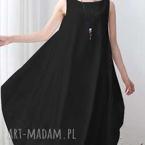 sukienki bawełniana czarna sukienka oversize, sukienka, duza, lato, plaza