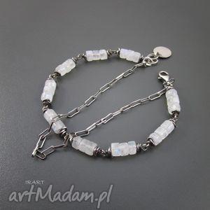 hand made bransoletki kamień księżycowy z łańcuszkiem - bransoletka