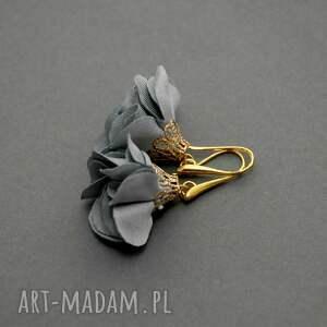 kolczyki z kwiatkami, kwiat, eleganckie, wiszące, stalowe, wesołe, małe