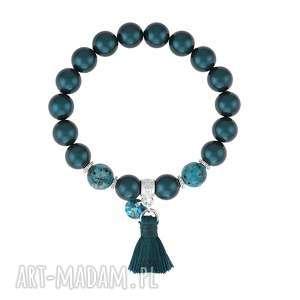 handmade bransoletki bransoletka z pereł swarovskiego z chwostem - boho