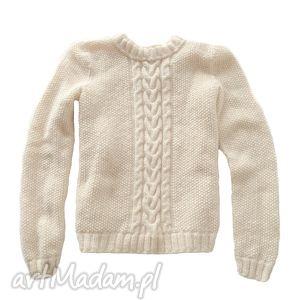 ręcznie zrobione swetry robiony sweter ecru