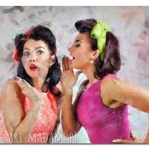 obraz KOBIETY 37 - 120x70 na płótnie jak malowany plotki , obraz, kobiety,